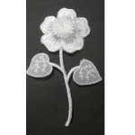 Iron On Patch Applique - White Flower