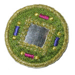 Iron On Patch Applique - Round Mirrored Green