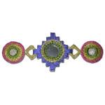 Iron On Patch Applique - Aztec Square Trio with Mirror