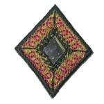 Iron On Patch Applique - Diamond Mirrored Black