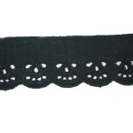"Eyelet Lace 1 7/8"" Black 15 Yards"
