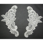 Collar Appliques Bridal Embroidered L&R IVORY