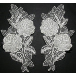 Bridal Appliques Embroidered L&R IVORY