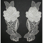 Bridal Appliques Embroidered L&R IVORY.