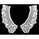 Collar Appliques Venise Lattice L & R White