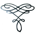 Iron On Patch Applique - Decorative Metallic Black