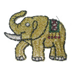 Iron On Patch Applique - Elephant Gold