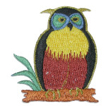 Iron On Patch Applique - Colorful owl