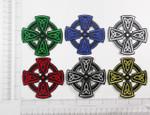 Iron On Patch Applique - Celtic Cross Symbol *Colors*