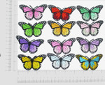 """Iron On Patch Applique - Butterfly Monarch 1 7/8"""" *Colors*"""