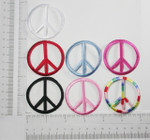 "Iron On Patch Applique - Peace Sign 2"" *Colors*"