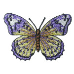 """Iron On Patch Applique - Butterfly 2 3/4"""" Periwinkle"""