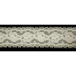 "Stretch Lace 1 1/4"" ( 31.75mm) Soft Ivory 20 Yards"