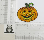 Iron On Patch Applique - Jack O Lantern Pumpkin Sparkle