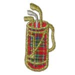 Iron On Patch Applique - Golf Bag Mini