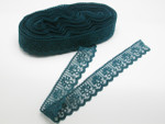"""Closeout Bolt Lace  1 1/4"""" (31.75MM) Teal Soft 50 Yards"""