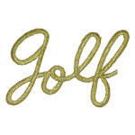 Iron On Patch Applique - Golf Gold Script