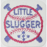 "Iron On Patch Applique - Baseball ""Little Slugger"""