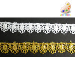 """Venise Lace 1/2"""" Metallic Silver or Gold"""