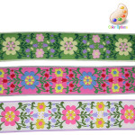"Jacquard Ribbon 2""  Floral *Colors* Per Yard"