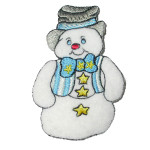Iron On Patch Applique - Snowman Top Hat