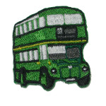 Iron On Patch Applique - Bus Green