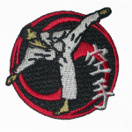 Iron On Patch Applique - Karate Patch