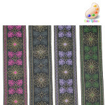 "Jacquard Ribbon 2"" Metallic *Colors* Per Yard"