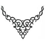 Iron On Patch Applique Decorative Yoke Black