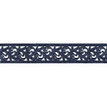 "Venise Lace 1 1/8"" (28.5mm) Navy Blue 6 Yards"