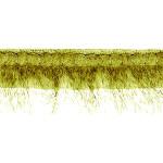 """Fur Braid Fringe 3 1/2"""" Green Wrights 6 Yards"""