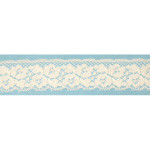 """Lace 1 7/16"""" Pearl Floral 180 Yards"""