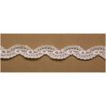 "Venise Lace 5/8"" White Wavy 15 Yards"