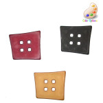 """Button 1 3/4"""" Abstract Square 4 Hole *Colors* Per Piece"""