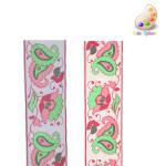 "Jacquard Ribbon 1 9/16"" Floral Paisley *Colors* 5 Yards"