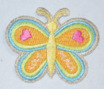 "Iron On Patch Applique - Butterfly 1 15/16"" Heart Wing"