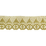 "Cluny Lace 2 1/8"" Metallic Gold  Per Yard"