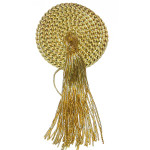 "Tassel 4"" Drop Medallion Style Metallic Gold"