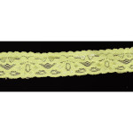 "Stretch Lace 1"" Lime 10 Yards"