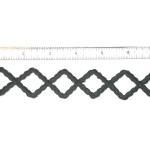 "Iron On Patch Applique - Decorative Strip Black Diamonds 12"" & up"