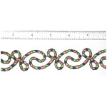 "Iron On Patch Applique - Decorative Strip Rope Swirl Calypso 12"" & up"