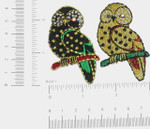 Iron On Patch Applique - Owl Gem Eye *Colors*