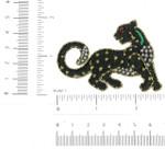 Iron On Patch Applique - Leopard Gem Eye Metallic