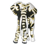 Iron On Patch Applique - Elephant WBG Large