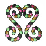 Iron On Patch Applique - Decorative Rope Double Swirl calypso