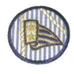 Iron On Patch Applique - Nautical Stripes Patch Anchors