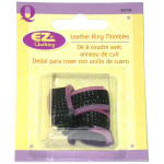 Leather Ring Thimbles Pack of 3 Pieces
