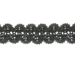 "Braid 1 1/8"" Black Fancy  5 Yards"