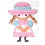 Iron On Patch Applique - Girl Cross Stitch Style