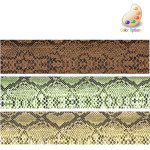 """Faux Snakeskin 1 1/2"""" *Colors* 4ft Roll"""